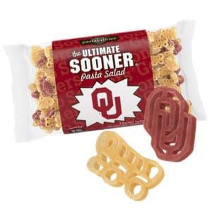 Oklahoma Sooner Pasta Bag with pasta pieces