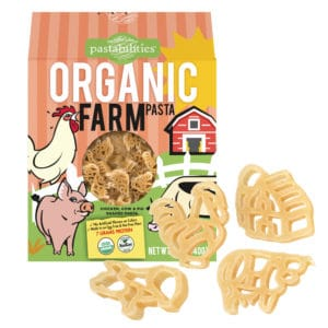 Organic Farm Pasta Box with pasta pieces