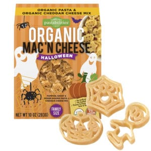 Organic Halloween Mac and Cheese Pasta Box with Pasta Pieces