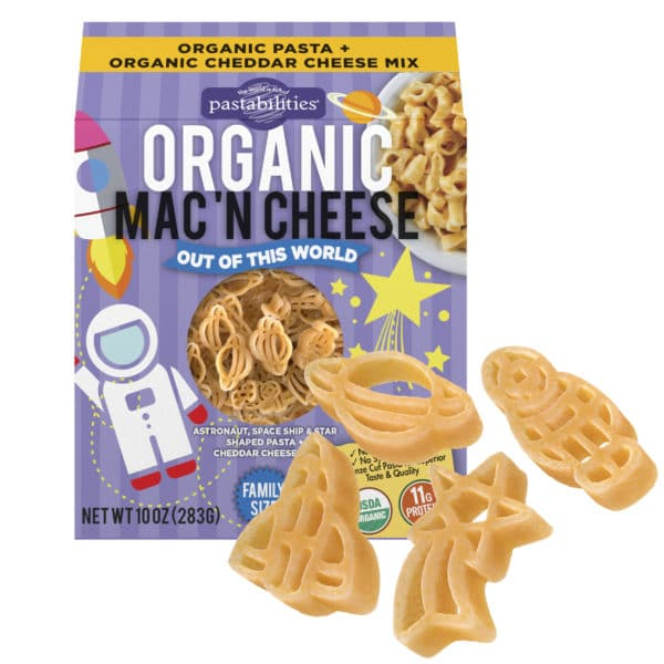 Organic Out of This World Mac and Cheese Pasta Box with pasta pieces
