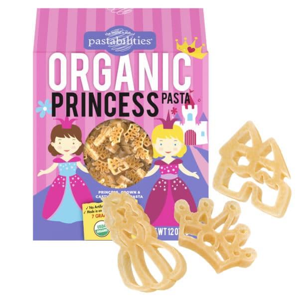 Organic Princess Pasta Box with pasta pieces