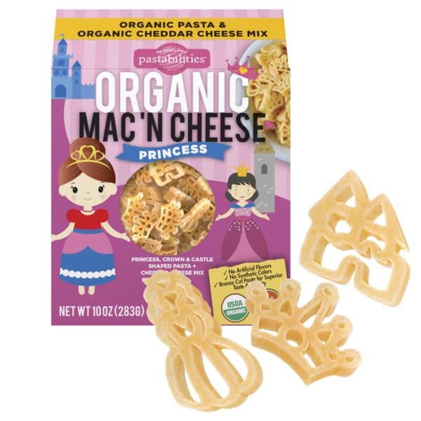 Organic princess Mac and Cheese Pasta Box with pasta pieces