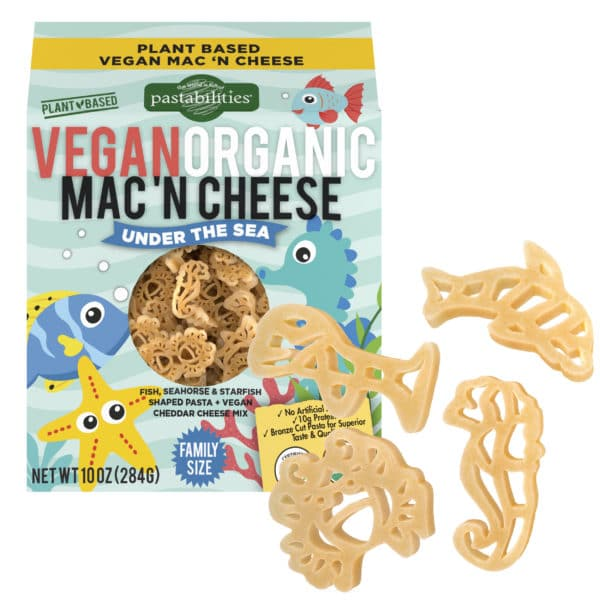 Vegan Organic Under the Sea Pasta Box with pasta pieces