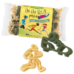 On The Run Pasta Bag with pasta pieces