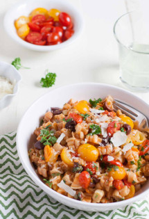 One Pot Pasta Puttanesca with Puzzle Pasta