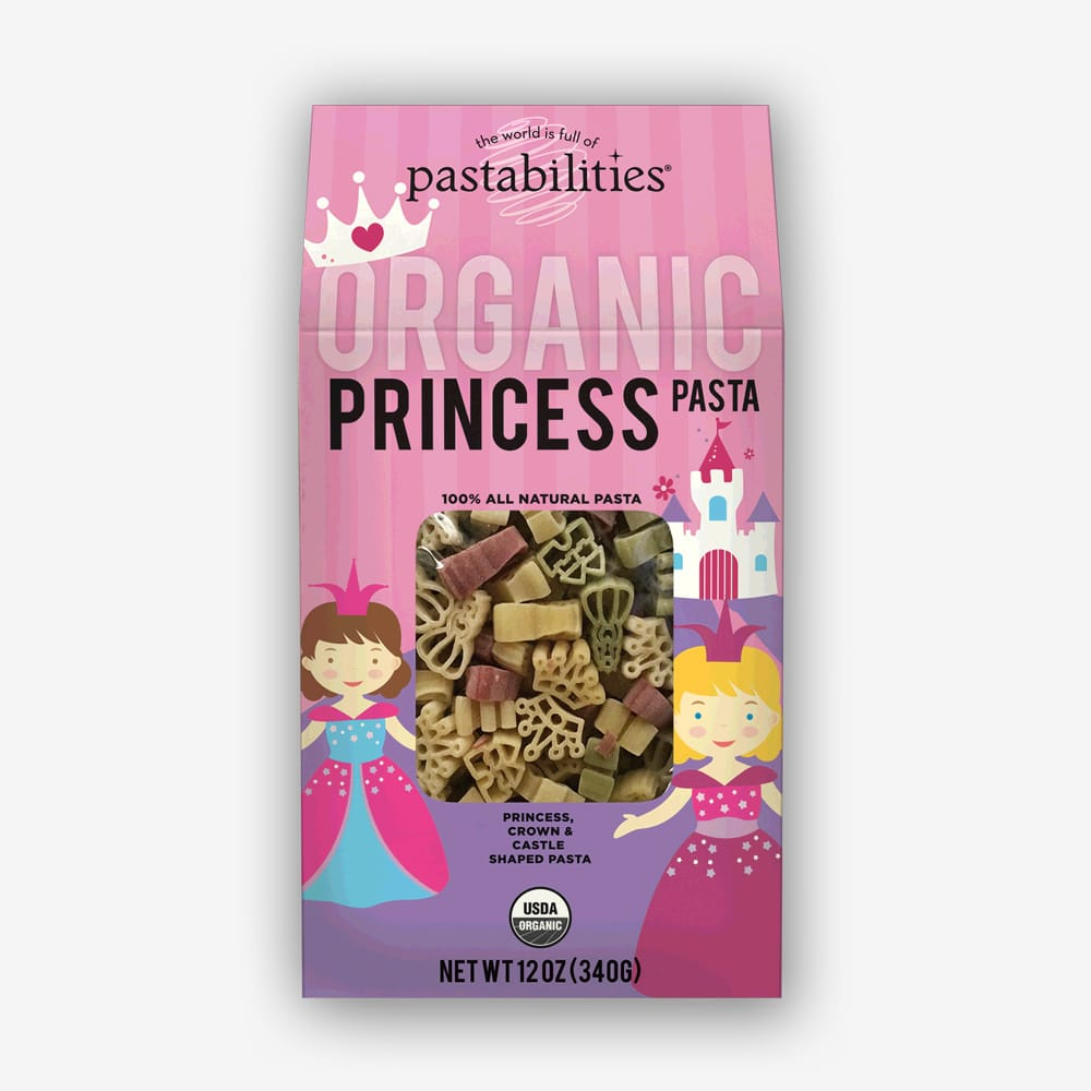 Organic Princess Pasta | Pastashoppe.com | Healthy and delicious for all the princesses in your life!