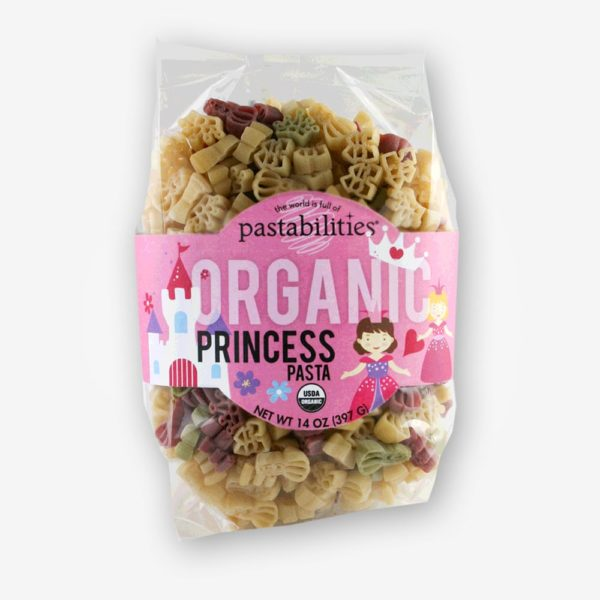 Organic Princess Pasta | The Pasta Shoppe | Crowns, castles, and princess pasta pieces ready to be served to royalty!