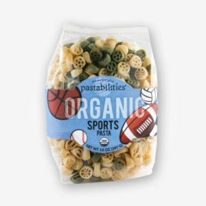 Organic Sports Pasta | The Pasta Shoppe | Perfect pasta for your little athletes! Cute Sports Ball shapes make every meal better!