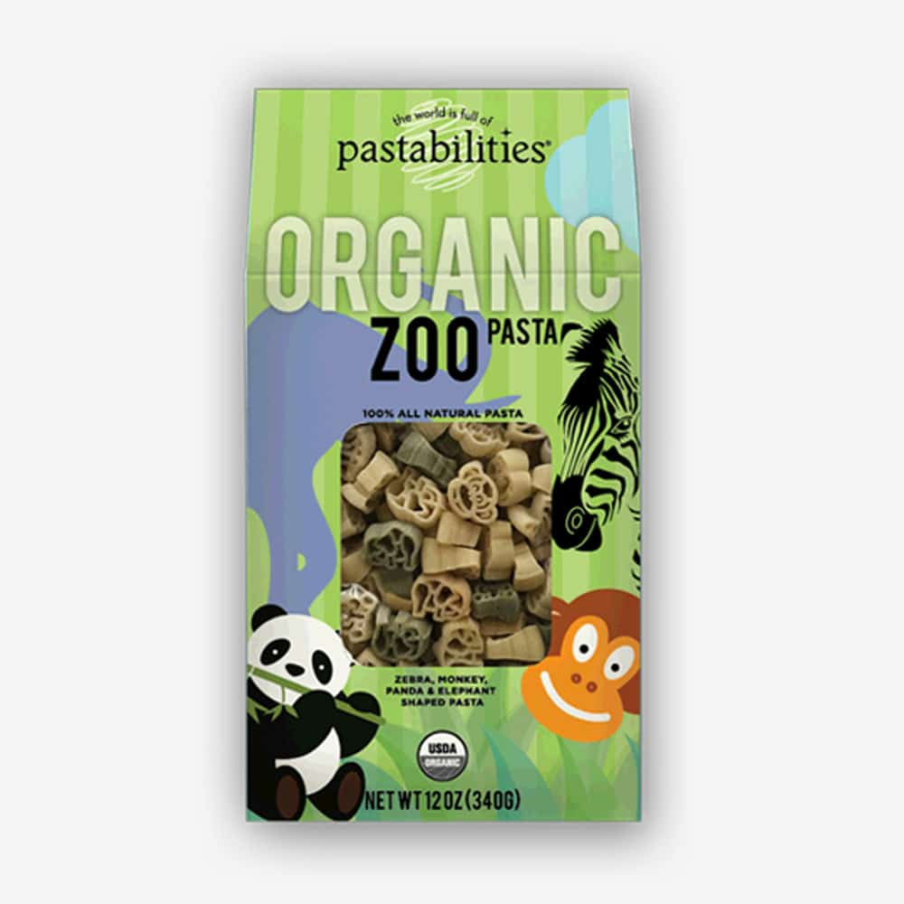Organic Zoo Pasta | All the kids favorite animals in bite size shapes. Healthy and delicious! | Pastashoppe.com