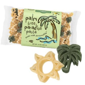 Palm Tree Pasta Bag with pasta pieces