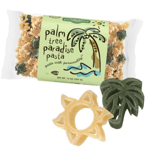 Palm Tree Pasta Bag with pasta pieces