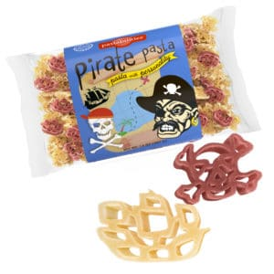 Pirate Pasta Bag with pasta pieces