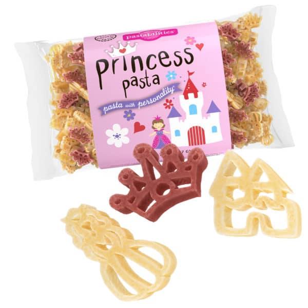 Princess Pasta Bag with pasta pieces