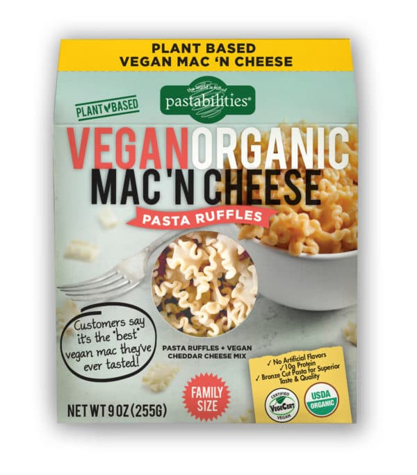 Vegan Organic Mac and Cheese Pasta Ruffles