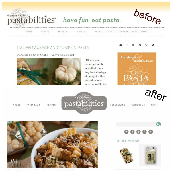 Pasta Blog Before After