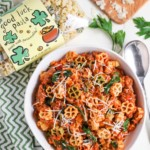 Pasta with Spicy Sausage and Tomato Cream Sauce with Pasta Bag
