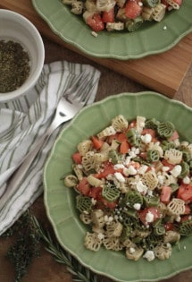 Pasta with Tomatoes, Feta, and Herbs
