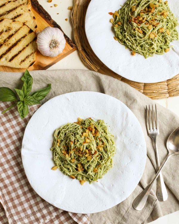 Pecan-Pesto-with-Garlicky-Breadcrumbs