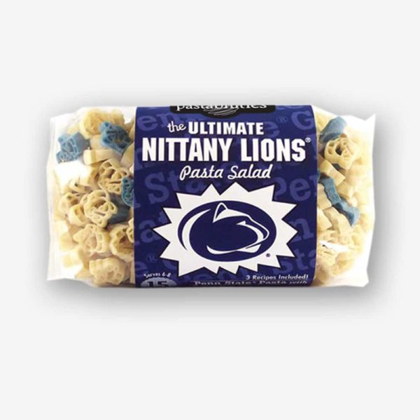 "Start the tradition this weekend with Penn State ""Nittany Lions"" Pasta Salad! Your own Logo Shaped Pasta with a TOUCHDOWN Vinaigrette Mix included. Shop NOW! 
