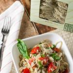 Quick Fresh Tomato and Goat Cheese Pasta | WorldofPastabilities.com