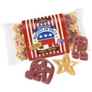 Republican Pasta Bag with pasta pieces