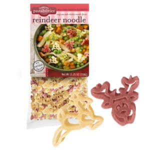 Reindeer noodle Soup Pasta Bag with pasta pieces