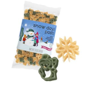 Snow Days Pasta bag with pasta pieces