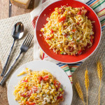 Summer Corn and Tomato Pasta | WorldofPastabilities.com