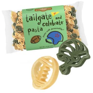 Tailgate and Celebrate Pasta Bag with pasta pieces