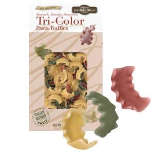 Tri-Color Pasta Ruffles with pasta pieces
