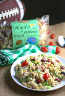 Tailgate Pasta Salad with Beans and Corn
