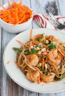 Thai Shrimp Scampi with Whole Wheat Pasta