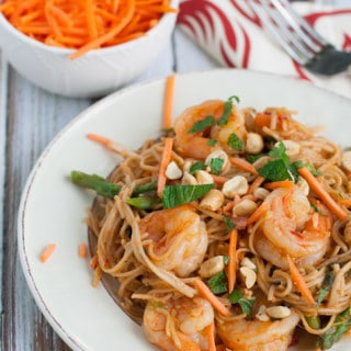 Thai Shrimp Scampi | WorldofPastabilities.com