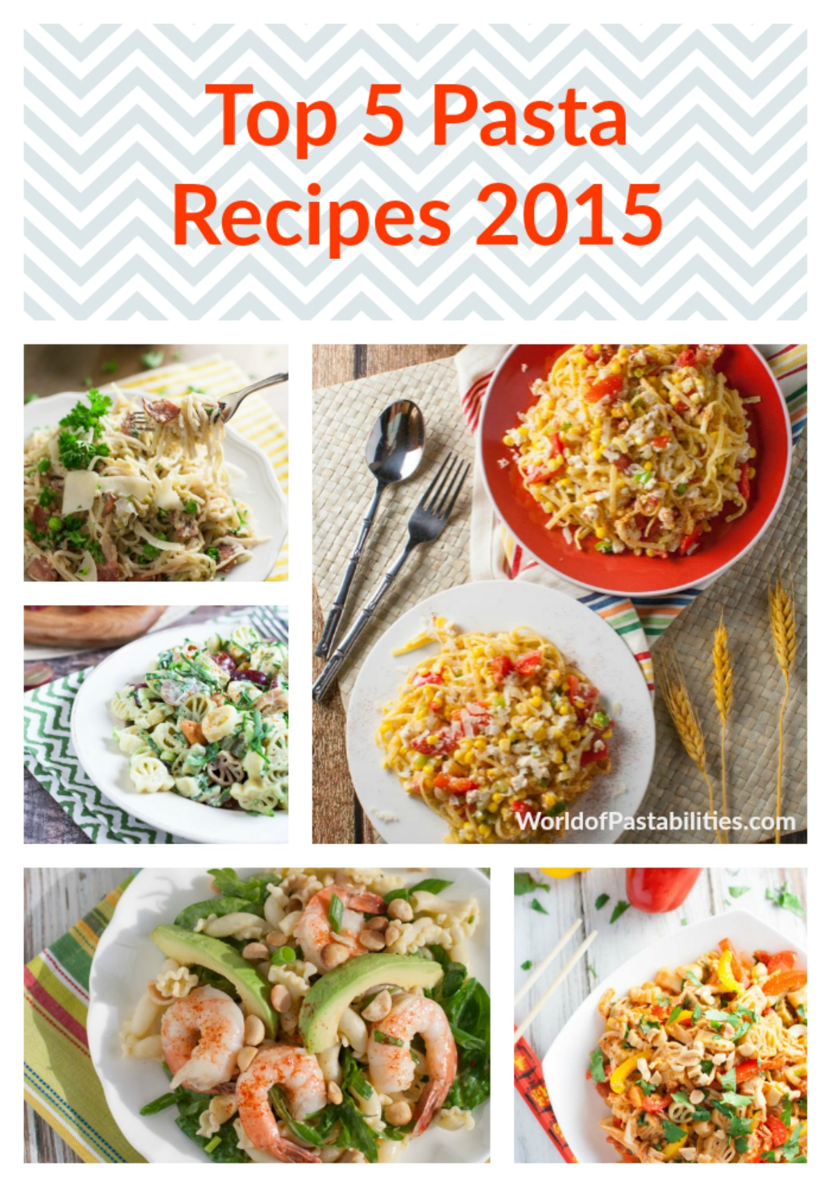 Top 5 Pasta Recipes 2015 | WorldofPastabilities.com | Tried and true favorite recipes from 2015! Must do's for 2016!