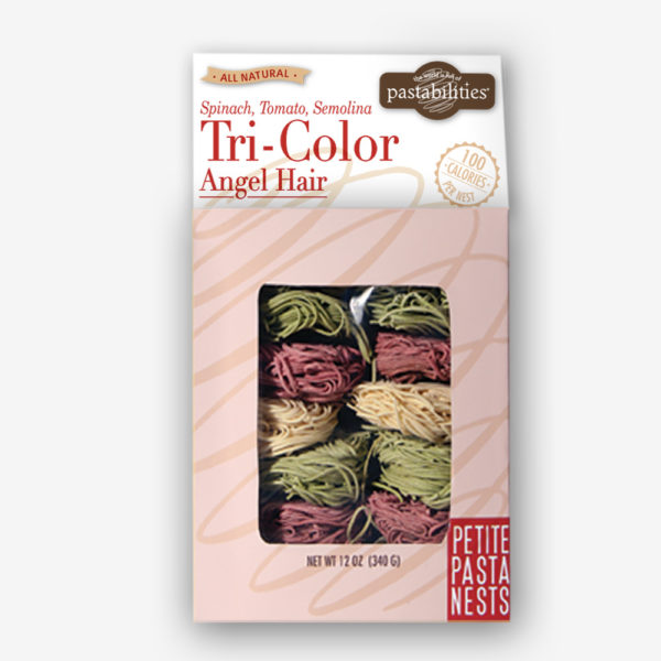 Tri Color Angel Hair Pasta Nests