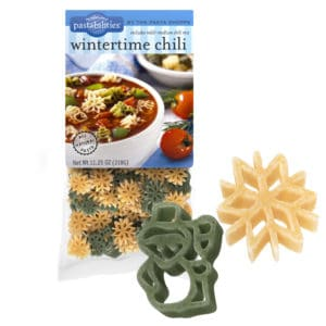 Wintertime Chili Pasta Bag with pasta pieces