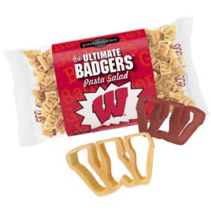 Wisconsin Badgers Pasta Bag with pasta pieces