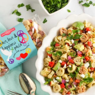 Winter Pasta Salad   Best of winter ingredients like pecans, cranberries and feta with a yummy vinaigrette   WorldofPastabilities