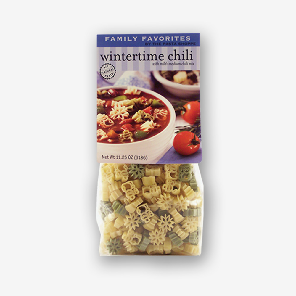 Wintertime Chili has been a best seller for years! Simple ingredients are combined with our infamous chili mix and dinner is served in 25 minutes. Shop NOW! | www.pastashoppe.com