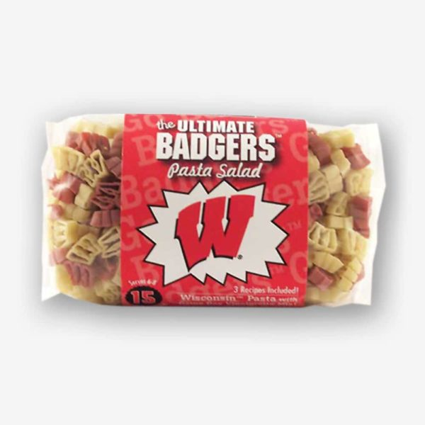 Wisconsin Badgers Pasta | Start the tradition this weekend with Wisconsin Badgers Pasta Salad! Your own Logo Shaped Pasta with a TOUCHDOWN Vinaigrette Mix included. Shop NOW! | Pastashoppe.com