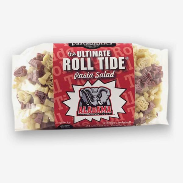 Alabama Roll Tide Pasta Salad | Start the tradition this weekend! Your own College Logo or Mascot shaped pasta with a Game Day Vinaigrette mix included. Three recipe options included on label. Just add a few simple ingredients and you are ready for any school celebration! | Pastashoppe.com