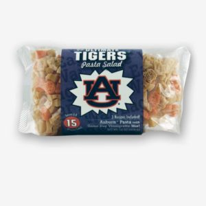 """Start the tradition this weekend with Auburn """"Tigers"""" Pasta Salad! Your own Logo Shaped Pasta with a TOUCHDOWN Vinaigrette Mix included. Shop NOW!!! 
