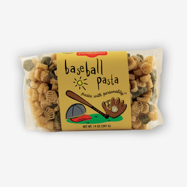 Baseball Pasta is a Home Run every time! Your team will love our delicious Tomato & Feta Pasta recipe is included on the back label. Shop NOW!!! | www.pastashoppe.com