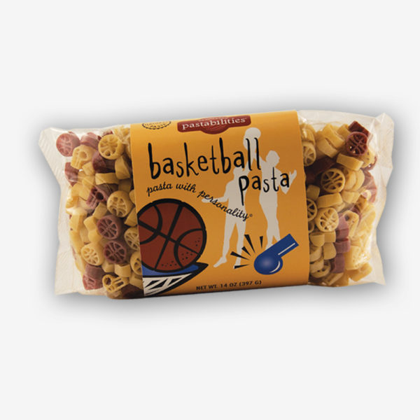 Score one with the kids and serve a fun pasta meal! Fans of all ages will love our Basketball Pasta. The BLT Pasta recipe on the label is a fan favorite! Shop Now! | www.pastashoppe.com