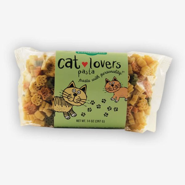 Cat Lovers Pasta is the PURRfect Pasta for all Cat Lovers! A favorite gift for those crazy about their cats. Homemade Mac 'n Cheese recipe on the label.