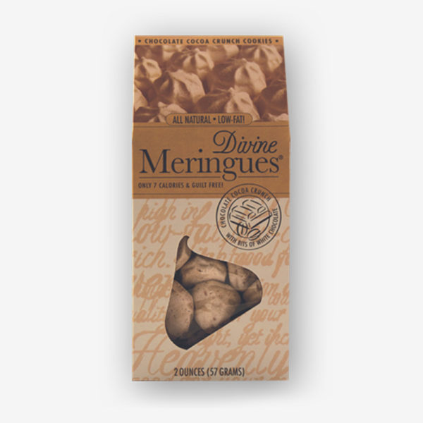 chocolate cocoa crunch meringues