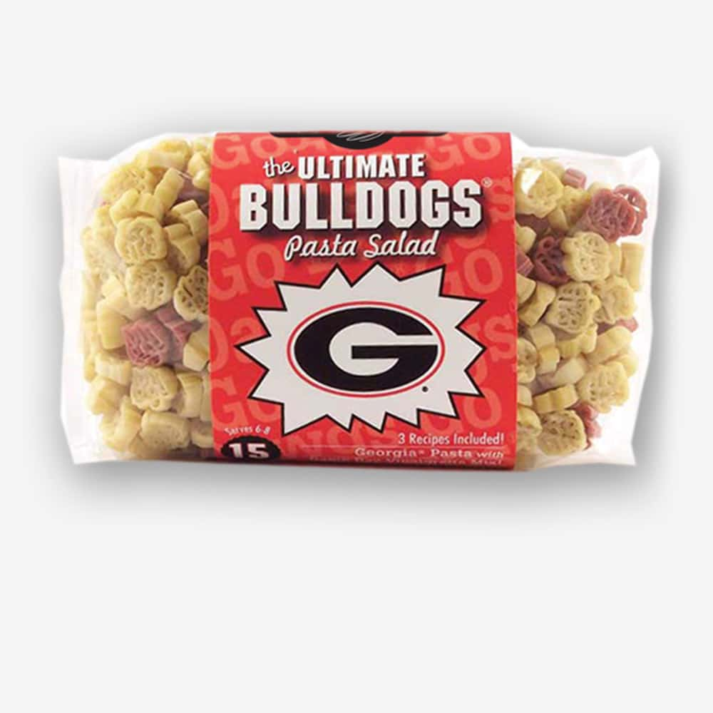 "Start the tradition this weekend with Georgia ""Bulldogs"" Pasta Salad! Your own Logo Shaped Pasta with a TOUCHDOWN Vinaigrette Mix included. Shop NOW!!! 