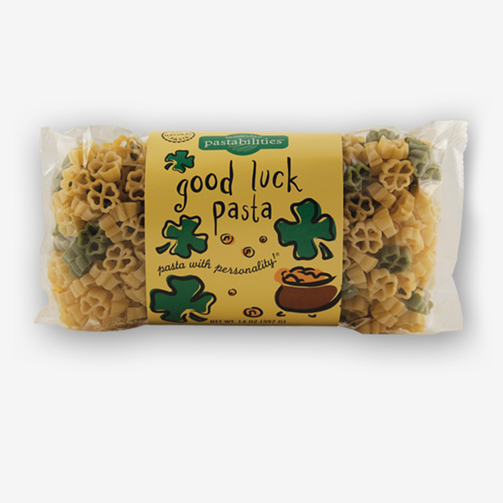 Get Lucky with our Good Luck Pasta! Makes a great gift for– Graduates, New Jobs, or New Adventures! A yummy Sesame Pasta recipe is included. Shop NOW!!!