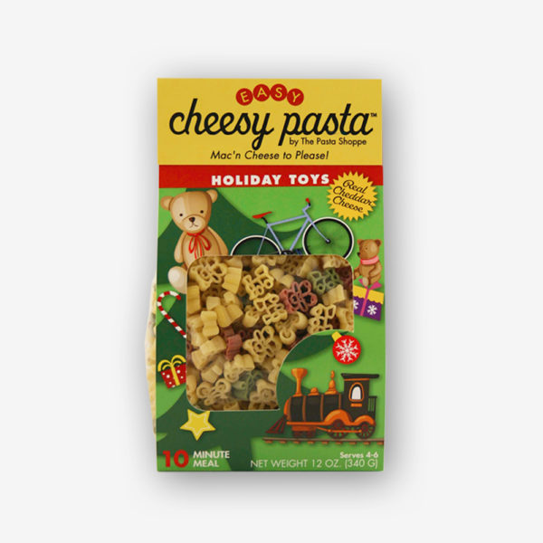 holiday toys mac n cheese