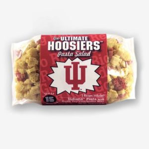 "Start the tradition this weekend with Indiana ""Hoosiers"" Pasta Salad! Your own Logo Shaped Pasta with a TOUCHDOWN Vinaigrette Mix included. Shop NOW!! 